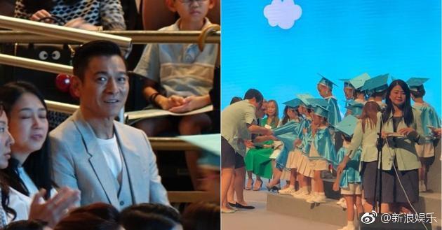 刘德华和老婆参加女儿毕业礼,夫妻台下小动作甜炸!